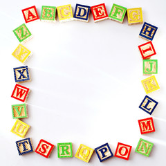 ABC Blocks with copy space