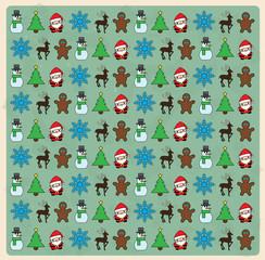 Seamless christmas pattern on grunge background