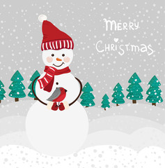 Vector snowman for Christmas design
