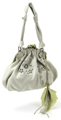fashion modern woman purse on white