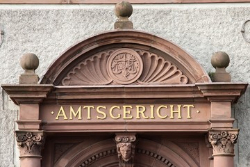 Eingang eines deutschen Amtsgerichts