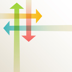 Background with intersecting color arrows
