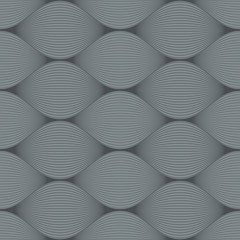 Seamless grey bulge illusion vector pattern.