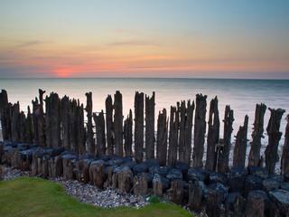 Wall Mural - Sunset wadden sea Netherlands
