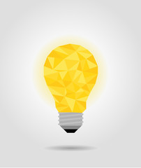 yellow idea bulb, imagine concept