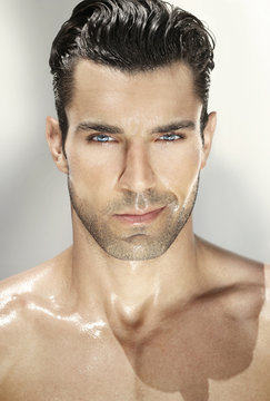 Portrait of good-looking man
