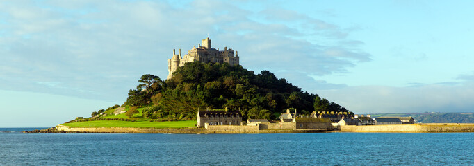 English medieval castle St Michaels Mount Cornwall England