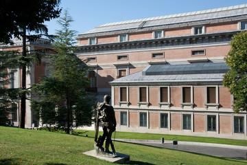 Madrid - Museo del Prado, view from the exterior garden