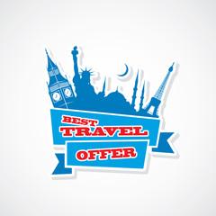 In de dag Doodle Travel sticker