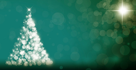Abstract Christmas tree on dark background