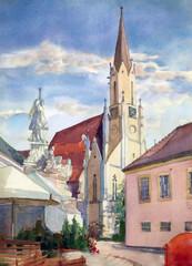 Austrian city of Melk landscape