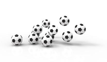 Shiny soccer ball waiting to be kicked