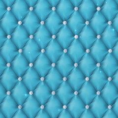 Luxury blue background with diamonds.