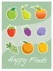 Happy Vector Fruits