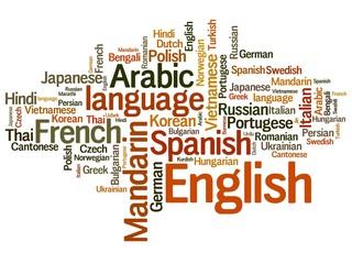Languages tag cloud - languages diversity