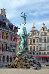 Printed roller blinds Antwerp Brabo fountain in Antwerp, Belgium