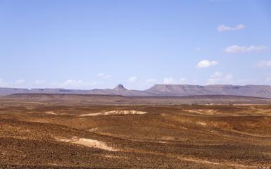 Hamada du Draa, moroccan stone desert (Morocco)