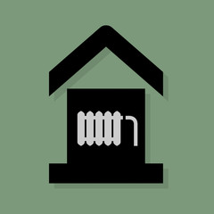 House service icon or sign, vector