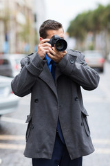 photographer taking street photos