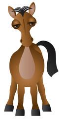 Horse Cartoon Vector Illustration