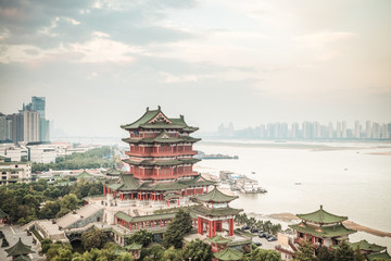 Wall Mural - nanchang tengwang pavilion