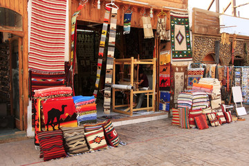 Colorful market, town of Dahab, Egypt