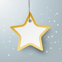 Golden Star Price Sticker Snow PiAd