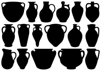 Fototapeta Set Of Different Clay Pottery obraz
