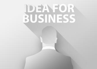 Idea for business with businessman 3d illustration flat design
