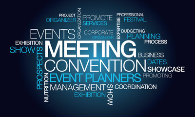 Events meeting convention event planner word tag cloud