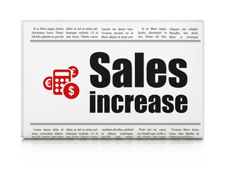 Advertising news concept: newspaper with Sales Increase