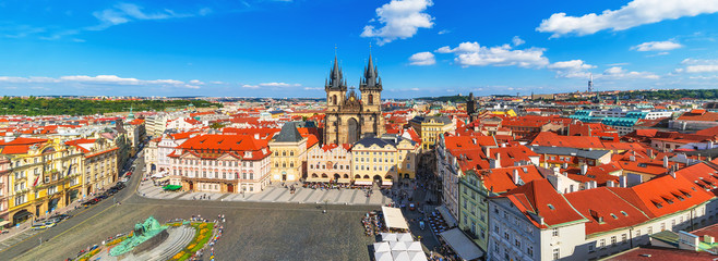 Wall Murals Prague Panorama of the Old Town Square in Prague, Czech Republic