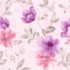 Vivid repeating floral