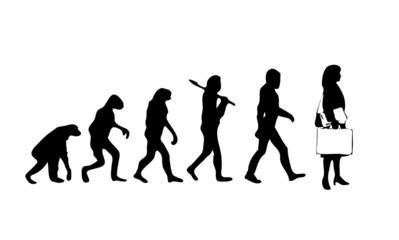 Evolution Businesswoman