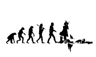 Evolution Crazy Cat Lady