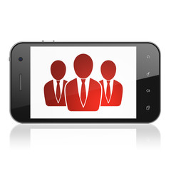 Business concept: Business People on smartphone