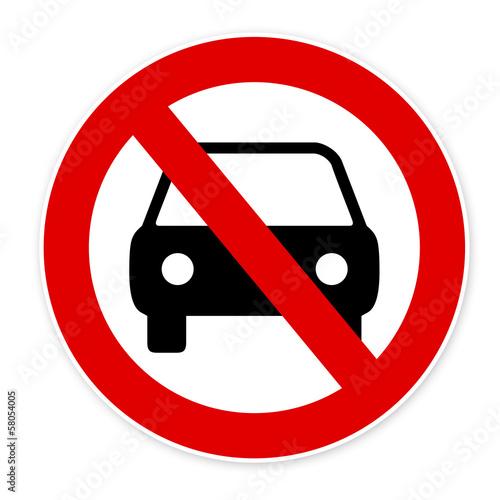 panneau interdiction voiture photo libre de droits sur la banque d 39 images image. Black Bedroom Furniture Sets. Home Design Ideas
