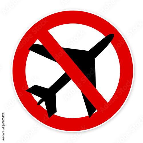 panneau non l 39 a roport avion interdit photo libre de droits sur la banque d 39 images fotolia. Black Bedroom Furniture Sets. Home Design Ideas