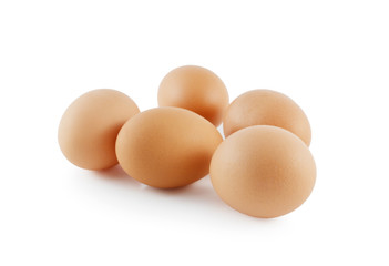 eggs isolated on white background