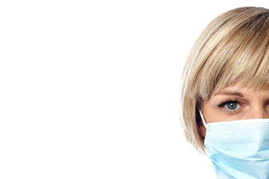 Lady nurse with face mask