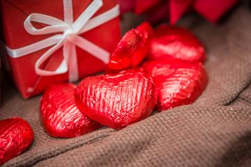 sweet heart shaped chocolates candies