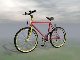 Mountain bike - 3D render