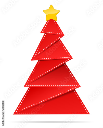 roter weihnachtsbaum aus papier stockfotos und lizenzfreie vektoren auf bild. Black Bedroom Furniture Sets. Home Design Ideas