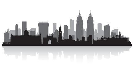Mumbai India city skyline silhouette