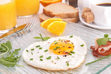 fried egg, breakfast