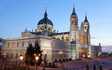 Santa Maria la Real de La Almudena - Cathedral in Madrid, Spain