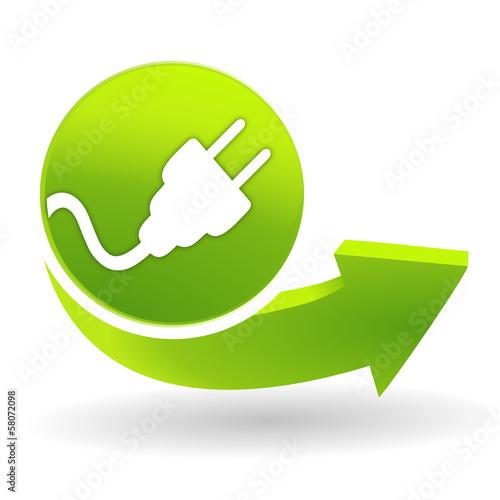 lectricit sur symbole vert fichier vectoriel libre de droits sur la banque d 39 images fotolia. Black Bedroom Furniture Sets. Home Design Ideas