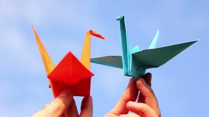 Canvas Prints Geometric animals Origami, the art of origami