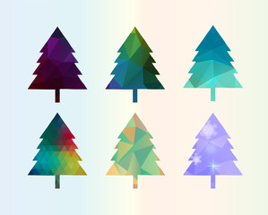 Colorful Diamonds Сhristmas Tree Set