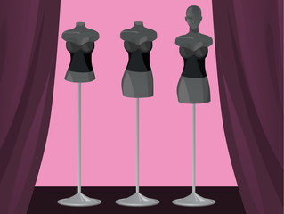 Fashion mannequin set